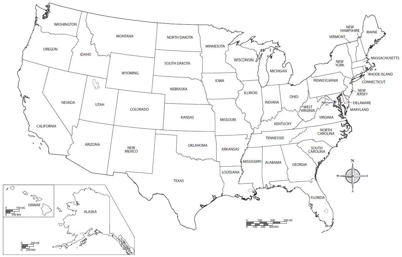 Free printable US map - Free printable USA map (Northern ...