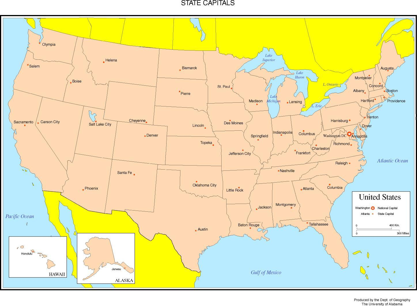 Map of United States showing States - Map of the United States ...