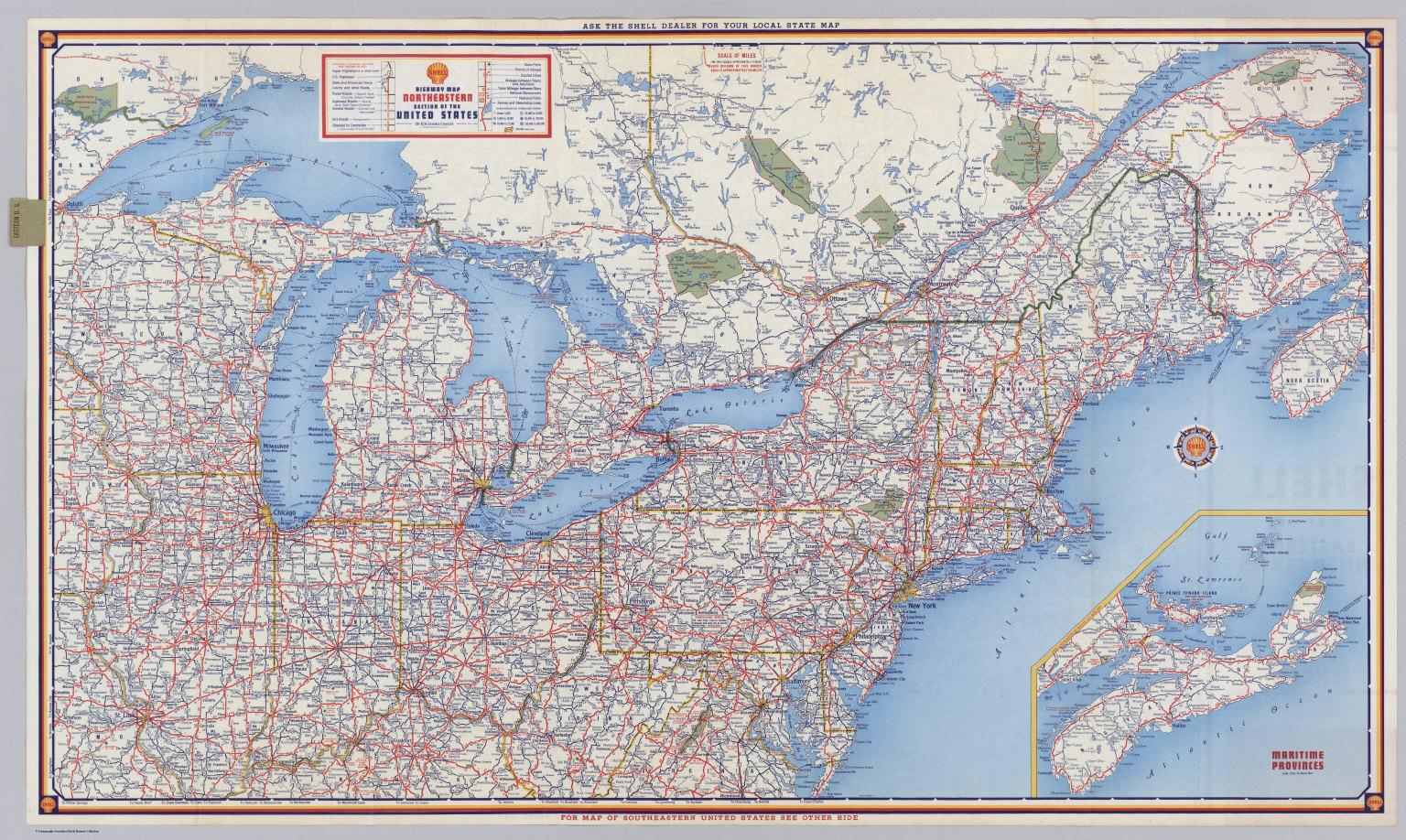 Picture of: Road Map Of Northeast Us Road Map Northeast Us Northern America Americas