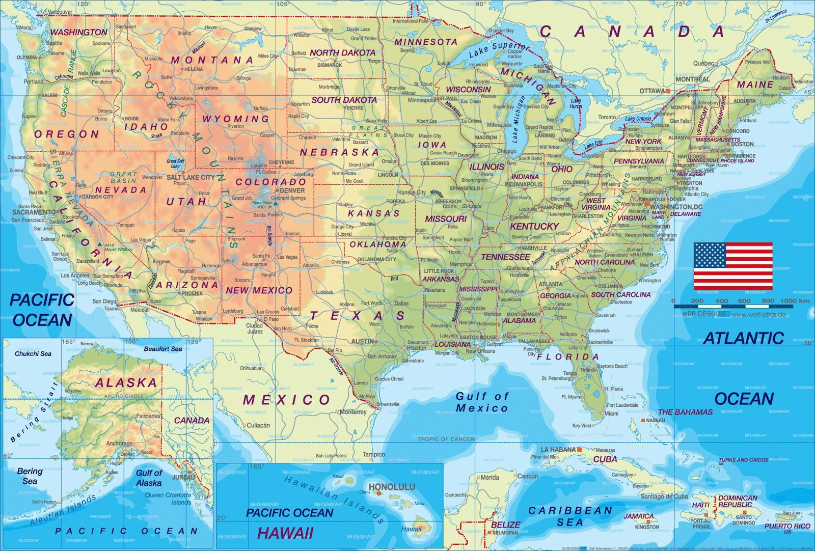 Us Roadmap Roadmap Of Usa Northern America Americas