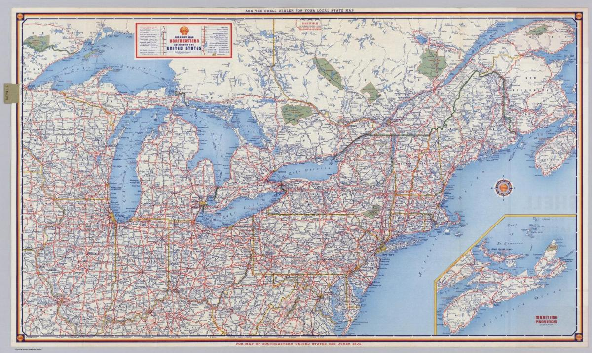 Picture of: Northeastern States Map Map Of North East Usa States Northern America Americas