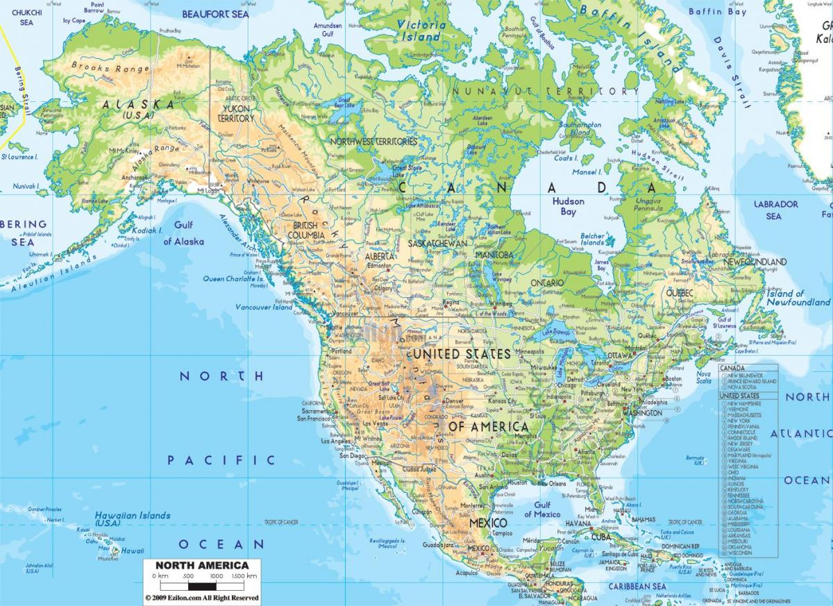 Physiographic map of the United States - Physiographic map of United ...