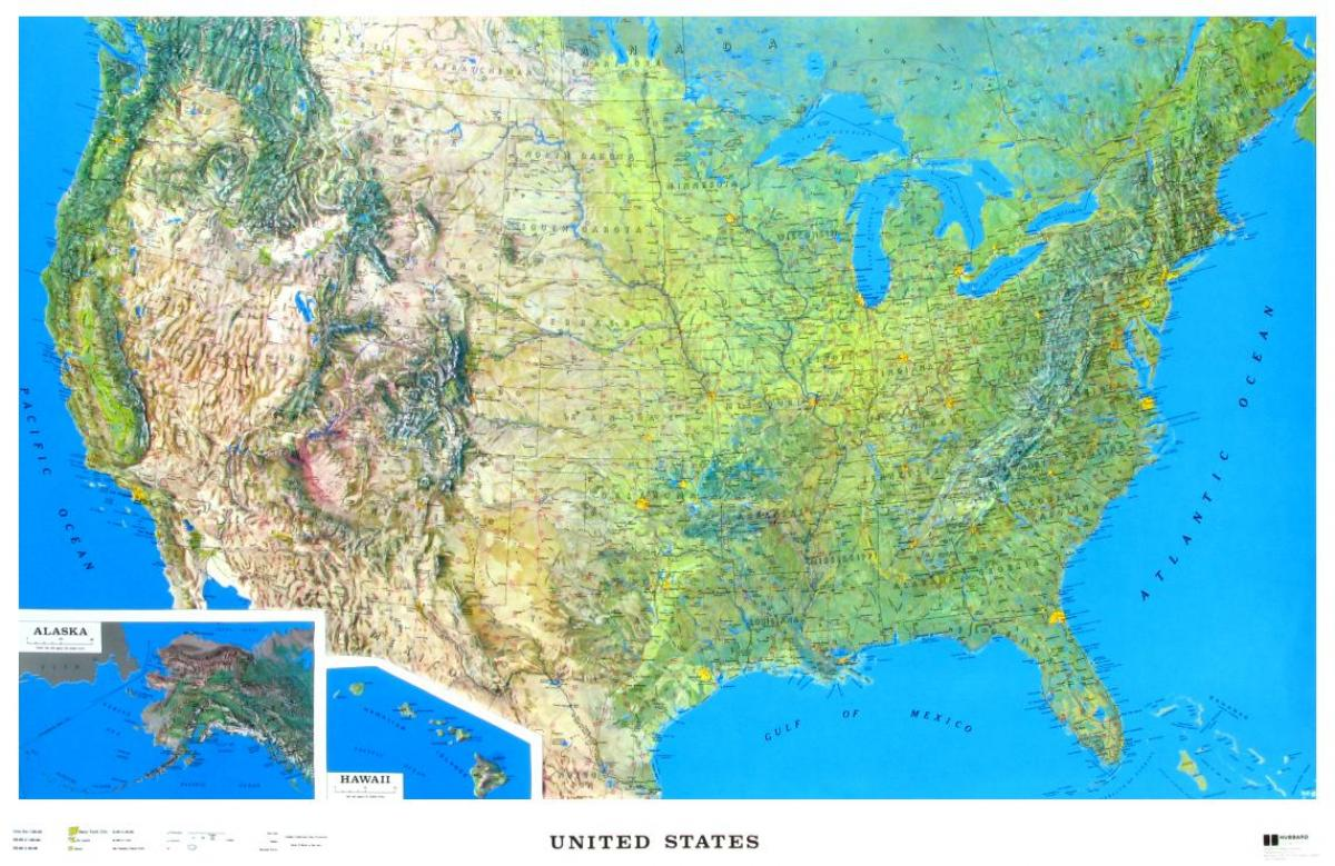Us Relief Map United States Relief Map Northern America Americas