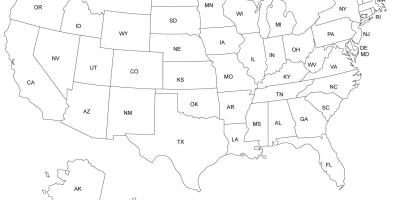 The US States map