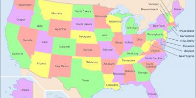 State map of US